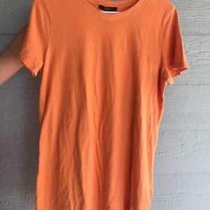 forever 21 orange t-shirt dress
